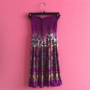 Dresses & Skirts - Halter purple printed dress